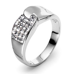 Støíbrný prsten s krystaly Swarovski Oliver Weber Set 7721-001