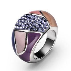 Stříbrný prsten s krystaly Swarovski Oliver Weber Choice 7724-VIO