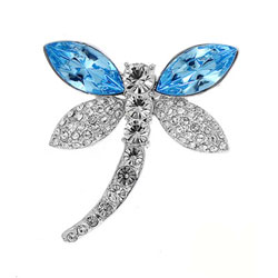 Ozdobná brož s krystaly Swarovski Oliver Weber Libella 58006-202