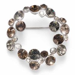 Ozdobná brož s krystaly Swarovski Oliver Weber Continue 58028R