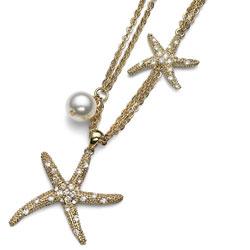 Náhrdelník s krystaly Swarovski Oliver Weber Starfish 11074G