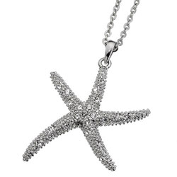 Pøívìsek s krystaly Swarovski Oliver Weber Starfish XL 11138