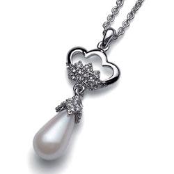 Pøívìsek s krystaly Swarovski Oliver Weber Crown Pearl 9150