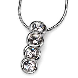 Přívěsek s krystaly Swarovski Oliver Weber Four Crystal