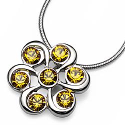 Přívěsek s krystaly Swarovski Oliver Weber Plus Sunflower