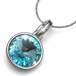Přívěsek s krystaly Swarovski Oliver Weber Fun Turquoise