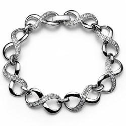 Náramek s krystaly Swarovski Oliver Weber Infinity 32053