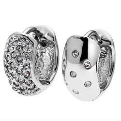 Náušnice s krystaly Swarovski Oliver Weber Double 22156R