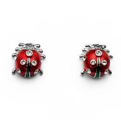 Náušnice s krystaly Swarovski Oliver Weber Ladybug 22186