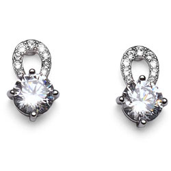 Náušnice s krystaly Swarovski Oliver Weber Gleam 22239