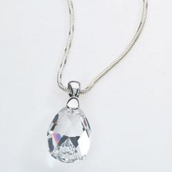 Stříbrný náhrdelník s krystalem Swarovski Pear Crystal