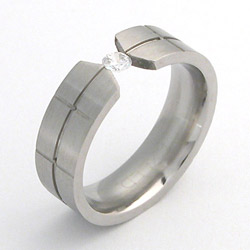Prsten z chirurgické oceli matný 232137m Exeed