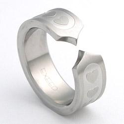 Prsten z chirurgické oceli matný 232169m Exeed