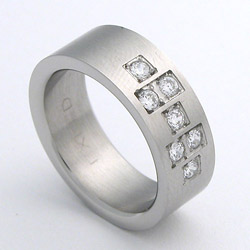 Prsten z chirurgické oceli matný 232175b Exeed