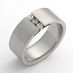 Prsten z chirurgické oceli matný 232290m Exeed