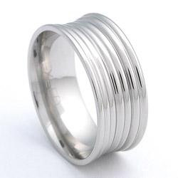 Prsten z chirurgické oceli lesklý 232441a Exeed