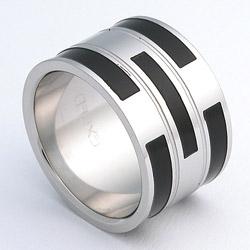 Prsten z chirurgické oceli lesklý 232462a Exeed