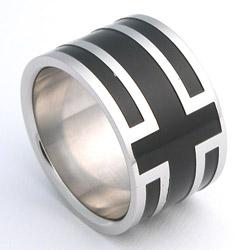 Prsten z chirurgické oceli lesklý 232463a Exeed