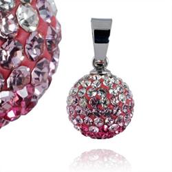 Ocelový přívěsek s krystaly Ball White Rosaline