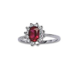 Prsten stříbrný R0247 RUBY