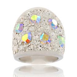 Prsten s krystaly Swarovski Rainbow Cosmos Exkluzive