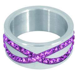 Prsten s krystaly Swarovski RSSW15-ROSE