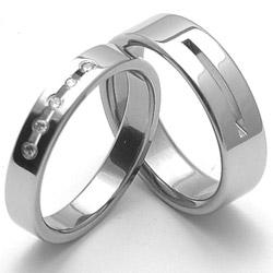 Obrázek č. 1 k produktu: Dámský ocelový snubní prsten RZ04025
