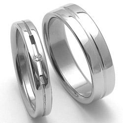Obrázek č. 1 k produktu: Dámský ocelový snubní prsten RZ04026