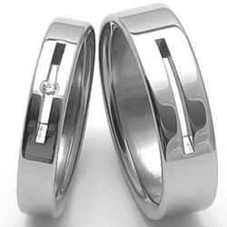 Obrázek č. 1 k produktu: Dámský ocelový snubní prsten RZ04045