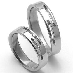 Obrázek č. 1 k produktu: Pánský ocelový snubní prsten RZ85015