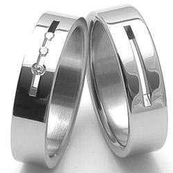 Obrázek č. 1 k produktu: Pánský ocelový snubní prsten RZ86104