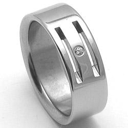 Dámský ocelový snubní prsten RZ06104