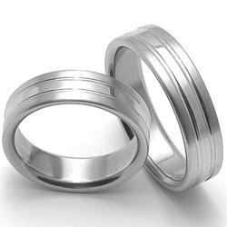 Obrázek č. 1 k produktu: Ocelový snubní prsten RZ06248