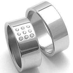 Obrázek č. 1 k produktu: Dámský ocelový snubní prsten RZ08001