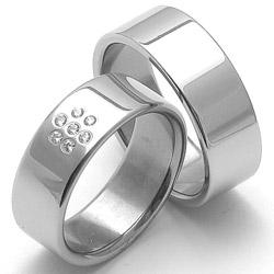 Obrázek č. 1 k produktu: Dámský ocelový snubní prsten RZ08002