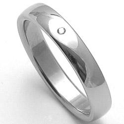 Dámský ocelový snubní prsten RZ14001