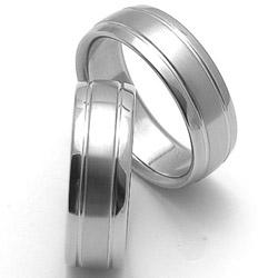 Obrázek č. 1 k produktu: Ocelový snubní prsten RZ17007