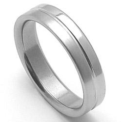 Ocelov� snubn� prsten RZ85118