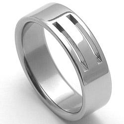 Pánský ocelový snubní prsten RZ86104