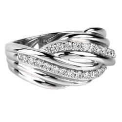 Støíbrný prsten Présence S10-070