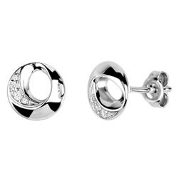 Stříbrné náušnice Présence S10-713