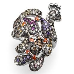 Prsten s krystaly Swarovski Oliver Weber Colourful Peafowl