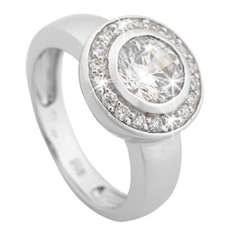 St��brn� prsten Chiara Circle SCIF0-R14