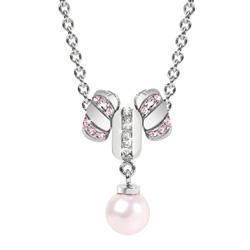 Pøívìsek Morellato Drops Pink Pearls CZ096
