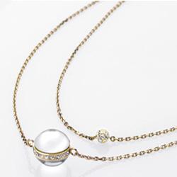 Ocelový náhrdelník Storm Shelly Gold