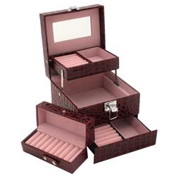 Obrázek č. 1 k produktu: Šperkovnice JKBox Bordo SP252-A10