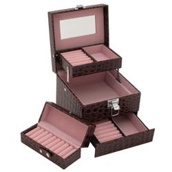 Obrázek č. 1 k produktu: Šperkovnice JKBox Brown SP252-A21