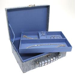 Obrázek č. 1 k produktu: Šperkovnice JKBox Cube Blue SP289-A13 - II.jakost