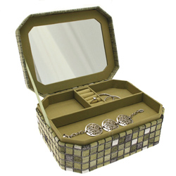 Obrázek č. 1 k produktu: Šperkovnice JKBox Cube Green SP291-A19 - II.jakost