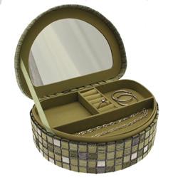 Obrázek č. 1 k produktu: Šperkovnice JKBox Cube Green SP292-A19 - II.jakost